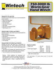 Wintech W10 Worm Gear Winch