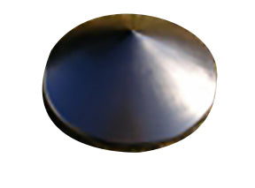 "7"" Black Cone Shaped Pile Cap"