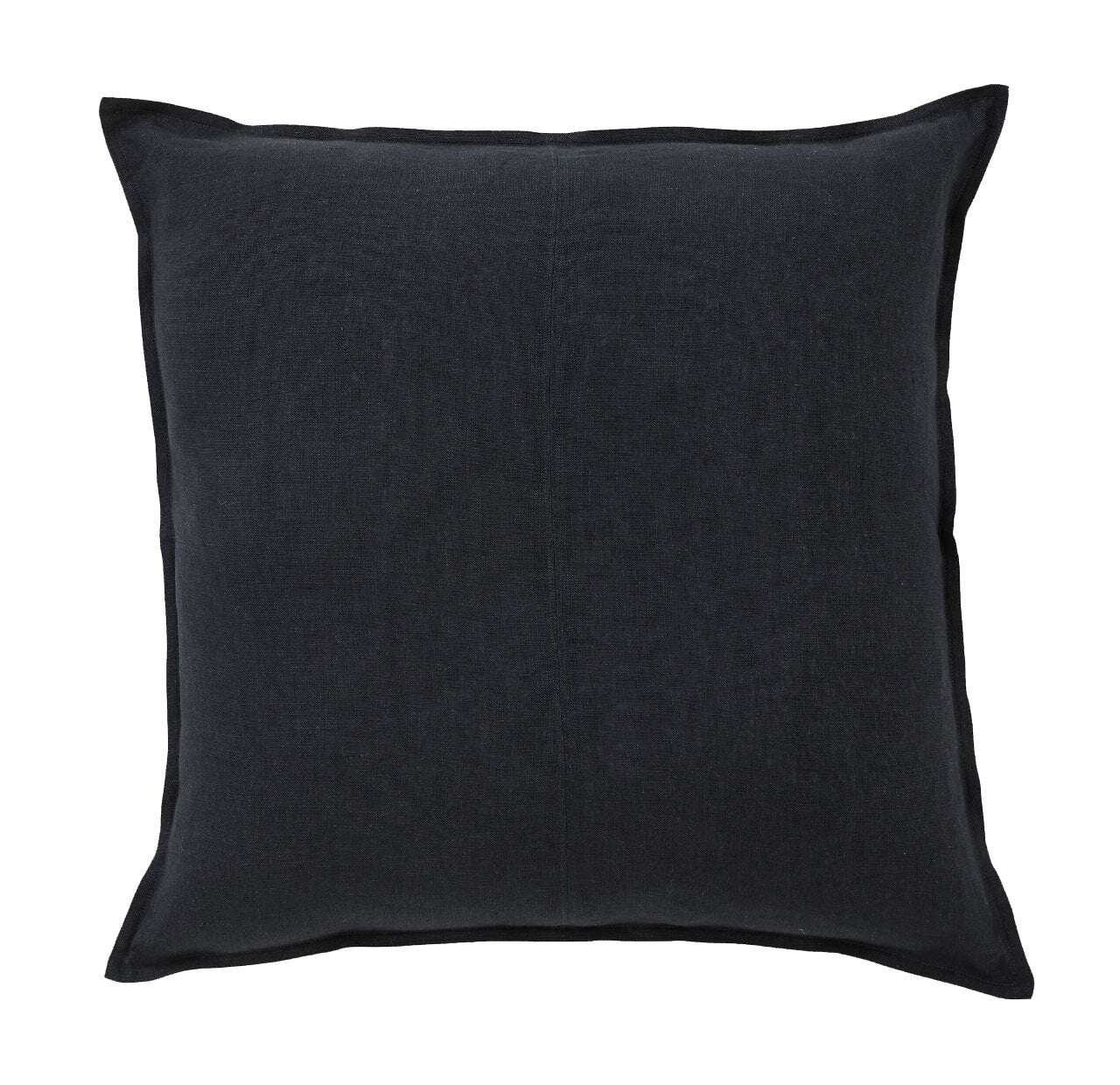 European Linen Como Square Cushion + Feather Inner - Shadow