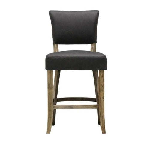 Jordi Leather Barstool - Tan