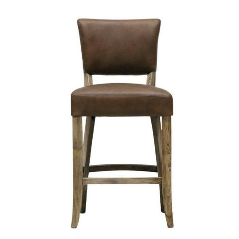 Camden Stool with Leather Seat - 65cm