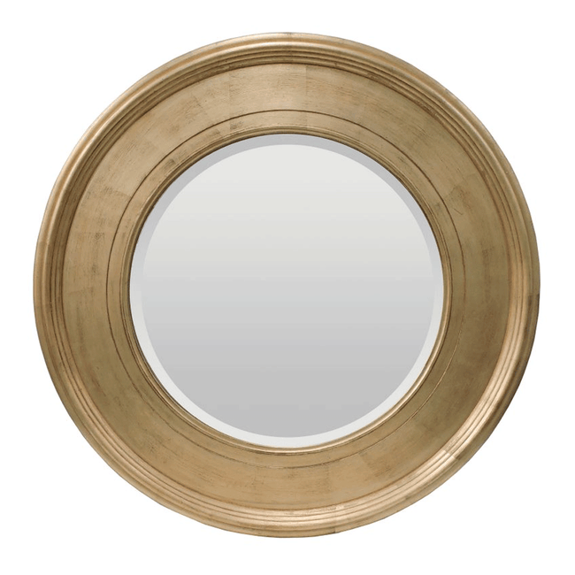 Alissa Round Mirror in Country Gold 94cm