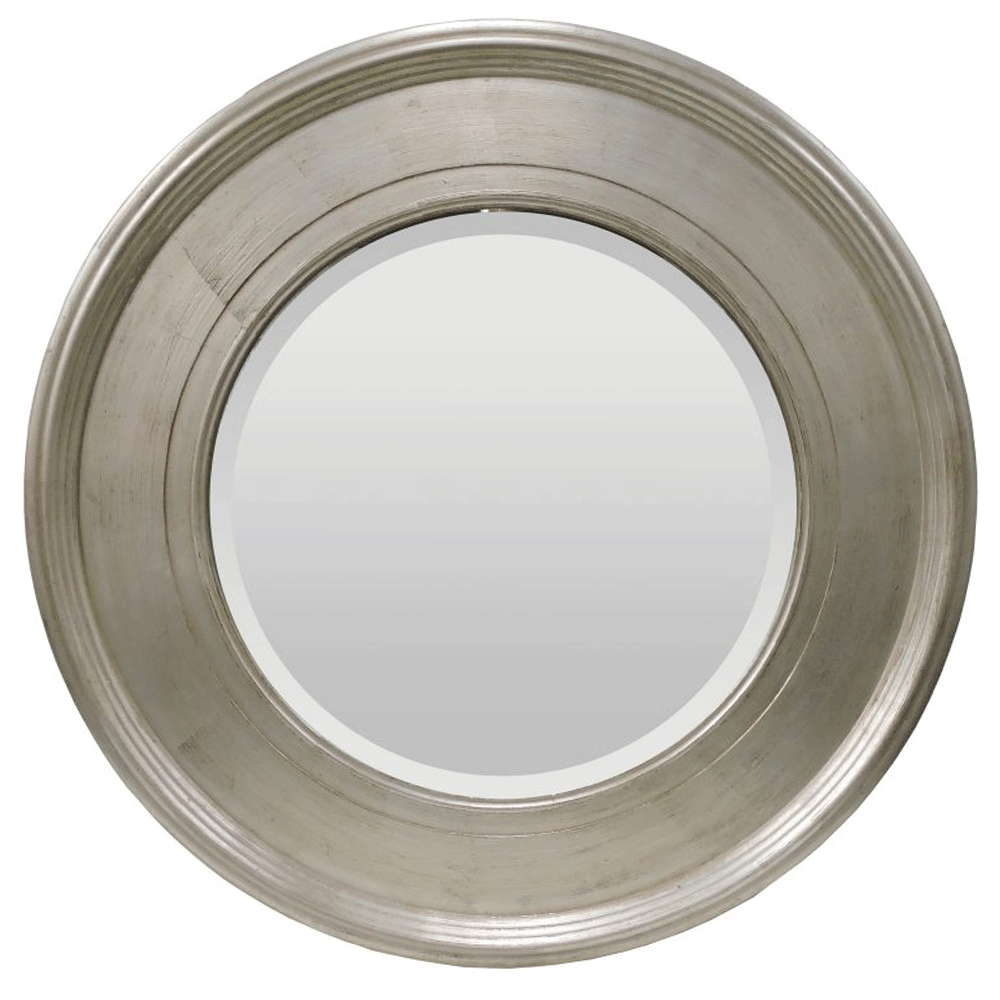 Alissa Round Mirror in Country Silver 94cm
