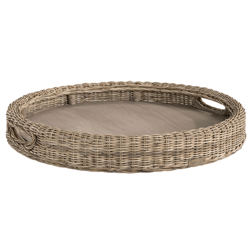 Artwood Rattan Round Tray