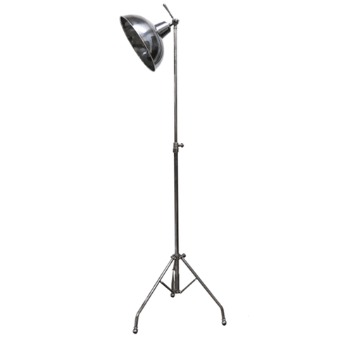 Round Tapered Stem Lamp in Nickel Finish
