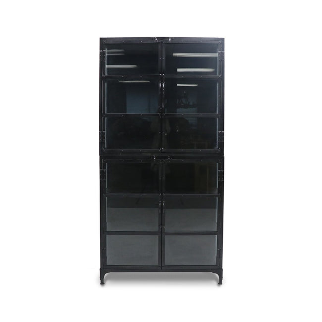 Bank Iron Glass Display Cabinet