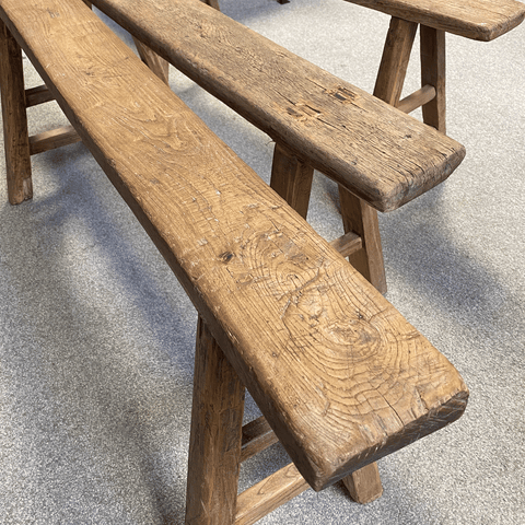 Vicchy Solid Oak Bench Seat - 118cm
