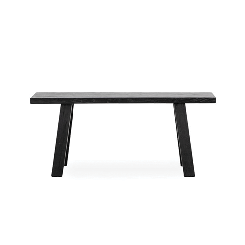 Pavia Salvaged Elm Bench - 110 - Black