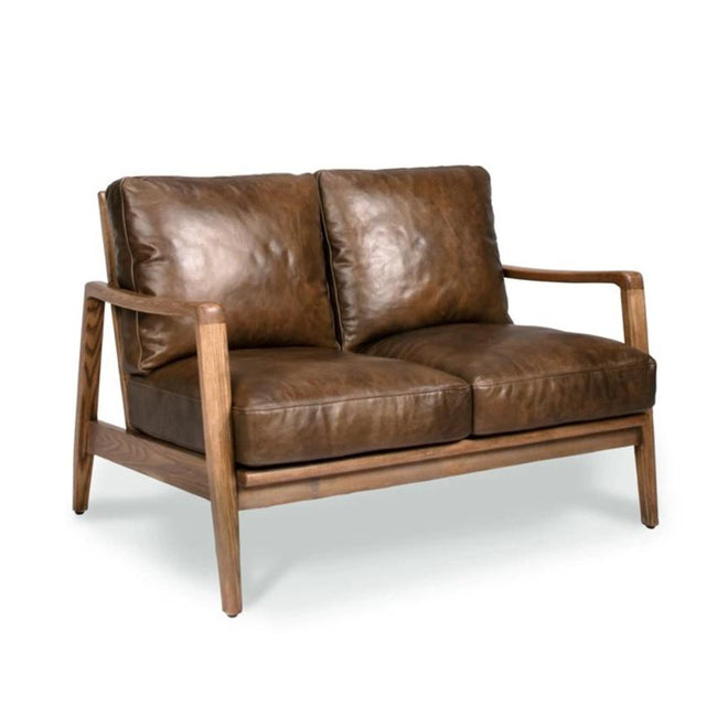 Cabana Buckle Back Leather 2 Seater Sofa - Brown