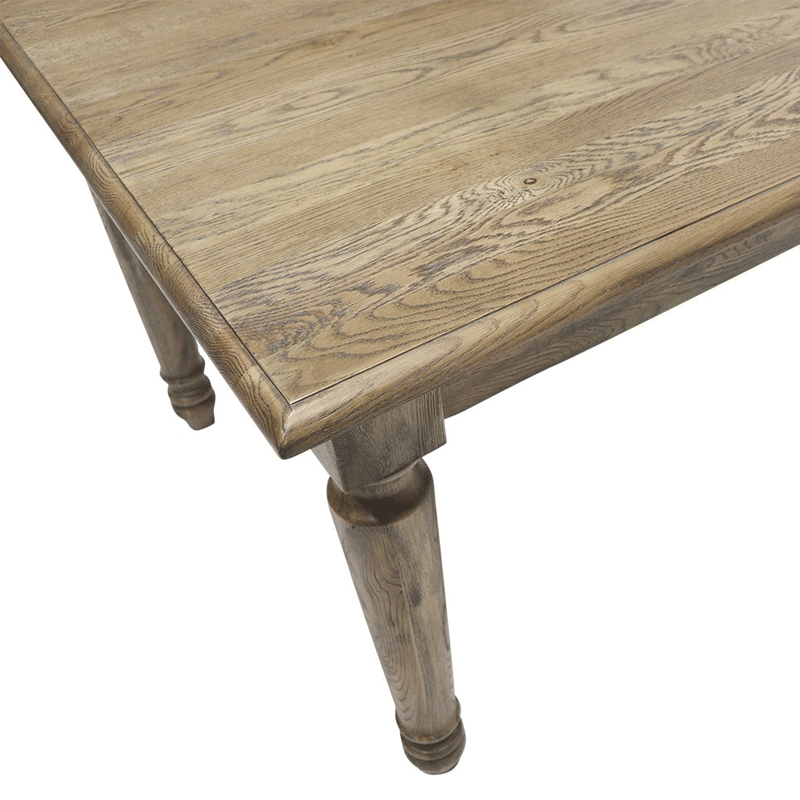 Cambridge Oak Turned Leg Dining Table - 160cm