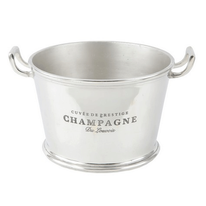 Champagne Ice Bucket in Silver Finish