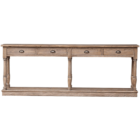 Rome Elm & Iron Console Table