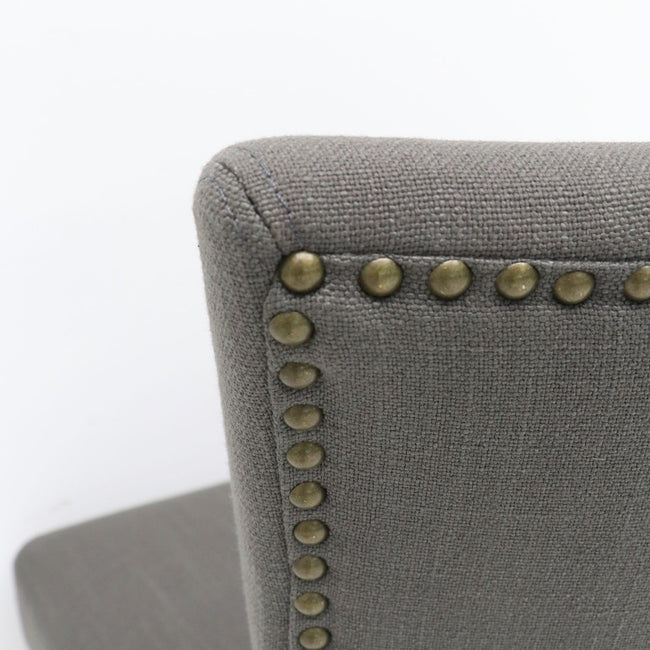 Crane Linen Upholstered Dining Chair - Grey