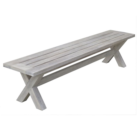 Boston 3 Piece Outdoor Bench Dining Setting - Table and 2 x Bench Seats