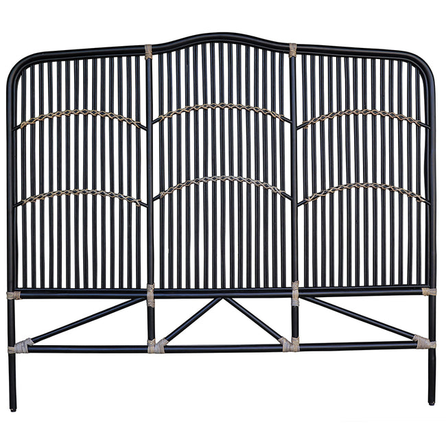 Denver Black Rattan Headboard - King/Super King