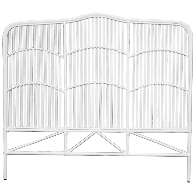 Denver White Rattan Headboard - King/Super King