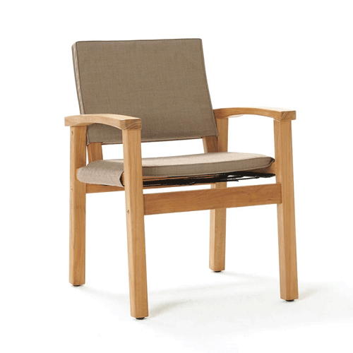 Devon Barker Outdoor Chair - Latte