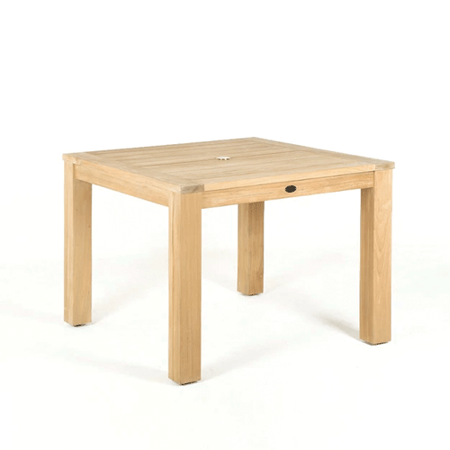 Devon Couper Teak Square Outdoor Dining Table - 1000