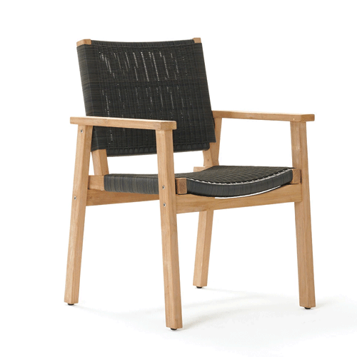 Devon Waipuna Outdoor Dining Chair - Shadow Grey