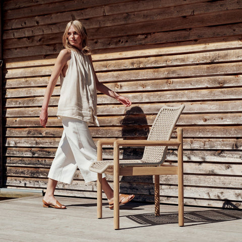 Devon Opito Outdoor Dining Chair - Marble