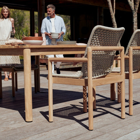 Devon Claris Teak 3 Metre Outdoor Dining Table - 3000