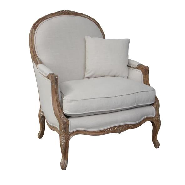 Eloise  French Style Oak Chair - Natural