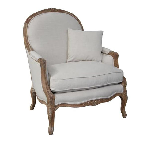 Ellen French Style Oak Chair - Camel Velvet