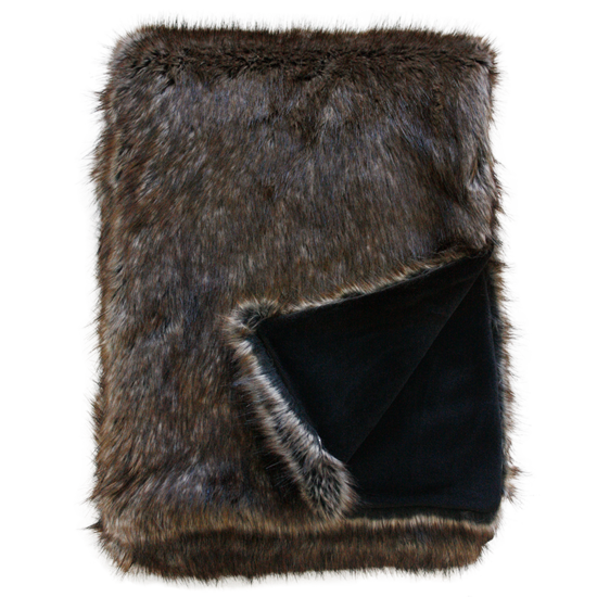 Heirloom Luxurious Faux Fur Throw -  Husky