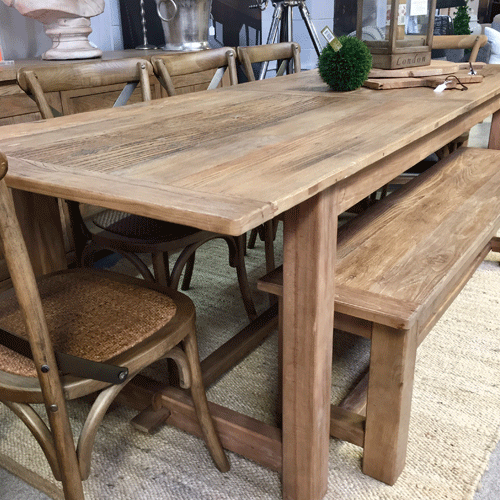 Farmhouse Elm Dining Table