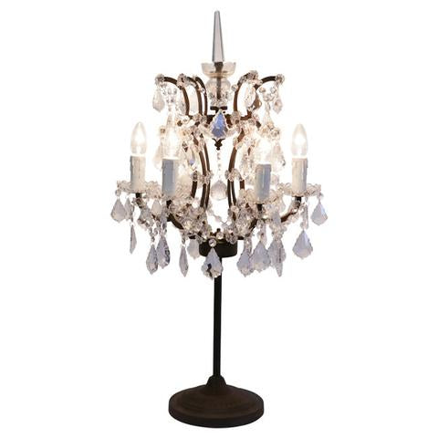Florence Ornate Two-Tone Chandelier with Glass Crystals