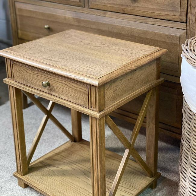 Harper Natural Oak Bedside Table
