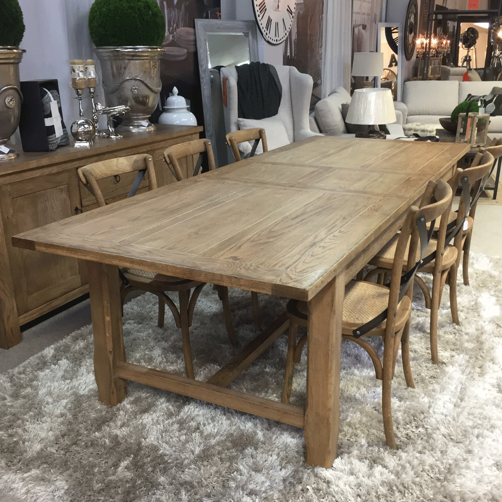 Hartley Double Extension Dining Table 2100 2600 3100mm Greenslades Furniture
