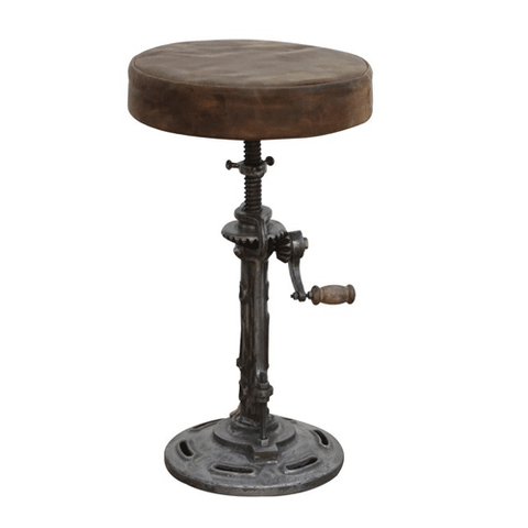 Industrial Metal 2 Tier Side Table
