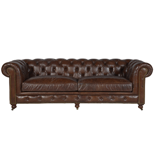 Halo Kensington Leather 3 Seater Sofa - Biker Tan