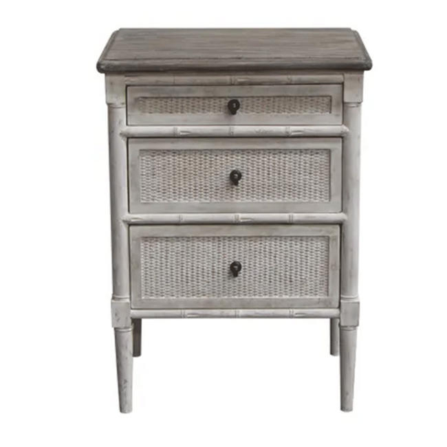 Laura 3 Drawer Bedside Table