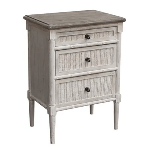 Miami White Bedside Table