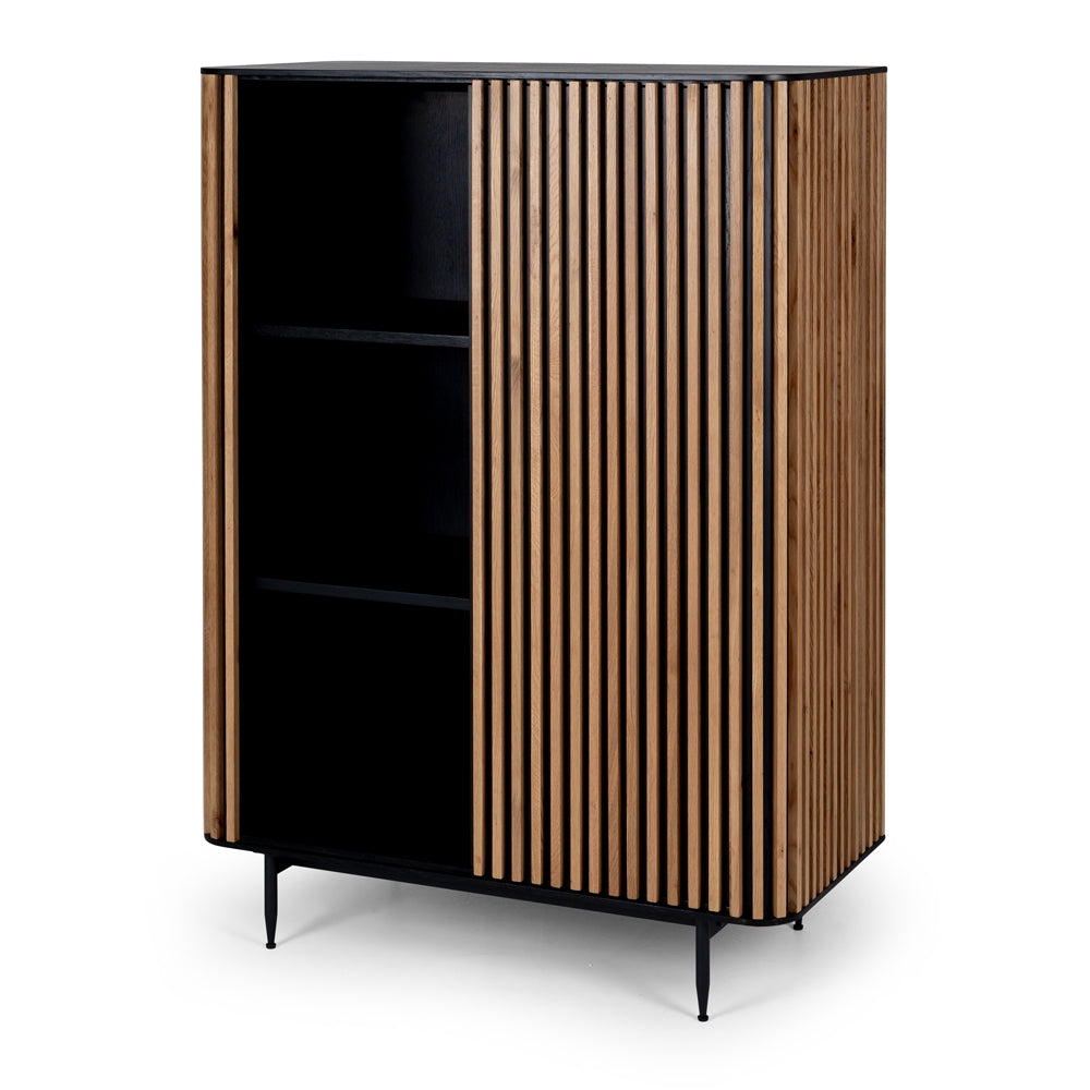 Bauhaus Black & Natural Oak Cabinet