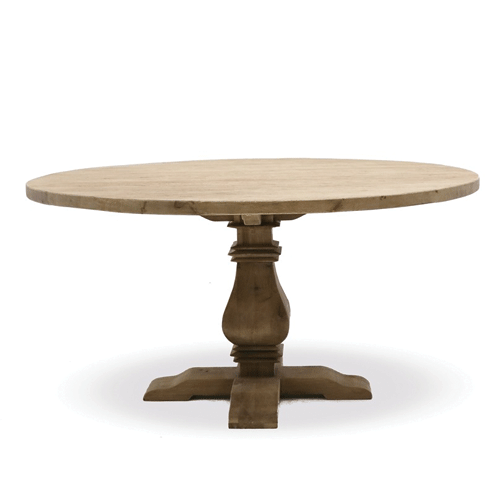 Madrid Elm Round Dining Table - 1400
