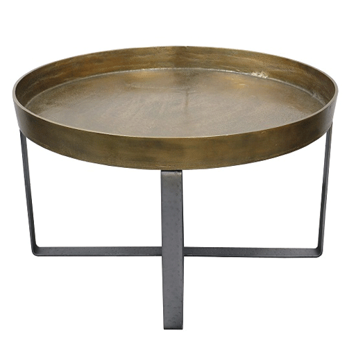 Manhattan Coffee Table in Antique Brass Finish