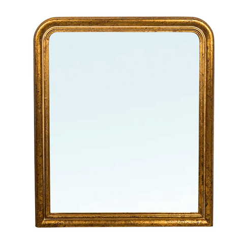 Solid Wood Beveled Mirror in Dark Finish