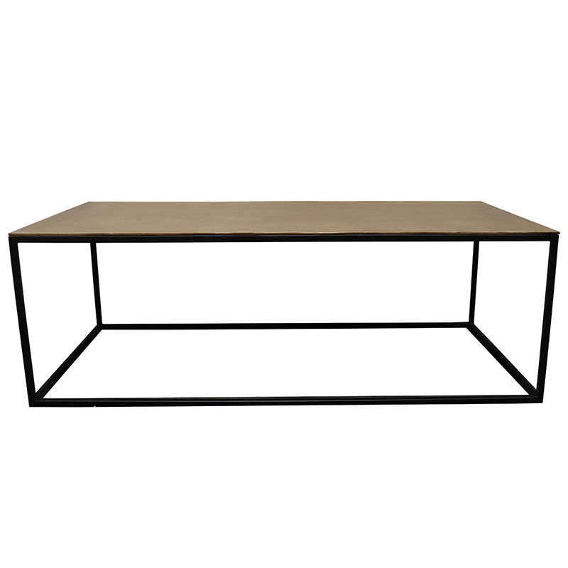 Marlo Coffee Table - Antique Brass Finish
