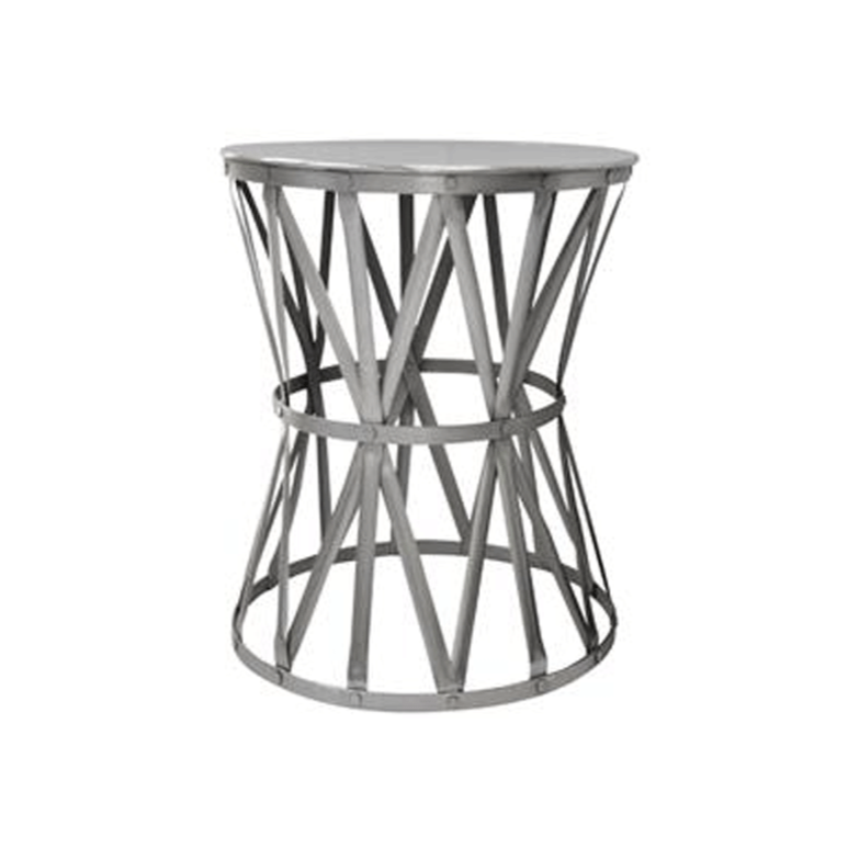 Nickel Drum Side Table - Small