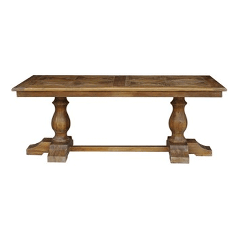 Pompeii Boatwood & Iron Dining Table - 3000