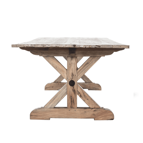 Norvik Round Dining Table with Dropleaf Sides - 1000