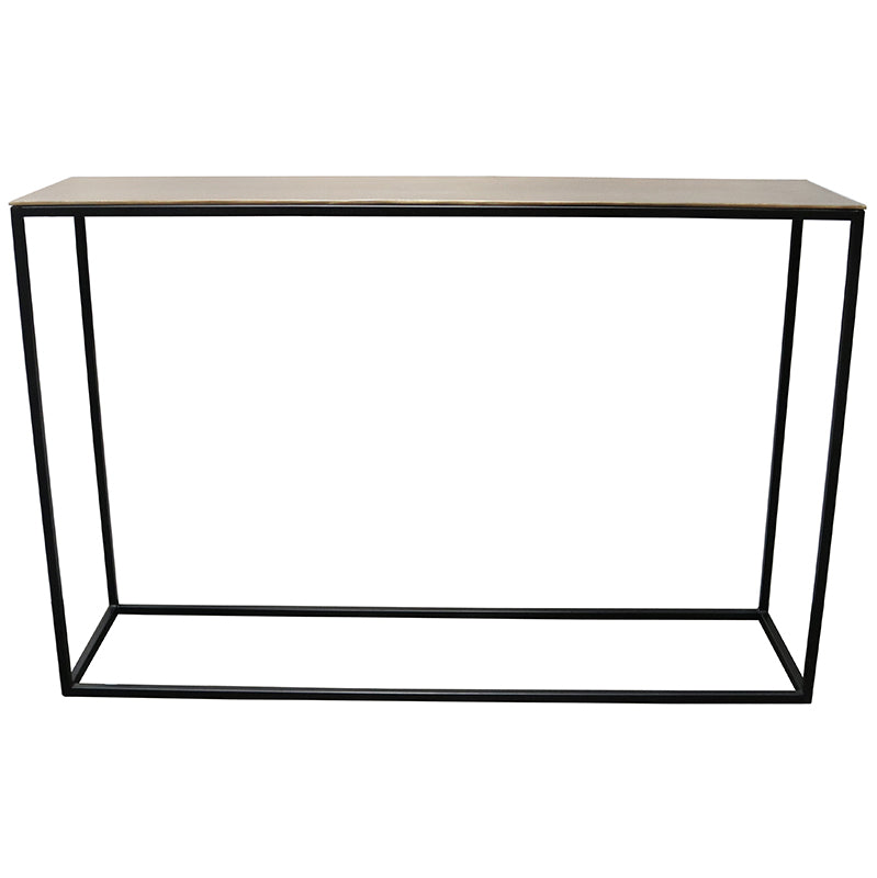Rumi Console Table - Antique Brass Finish