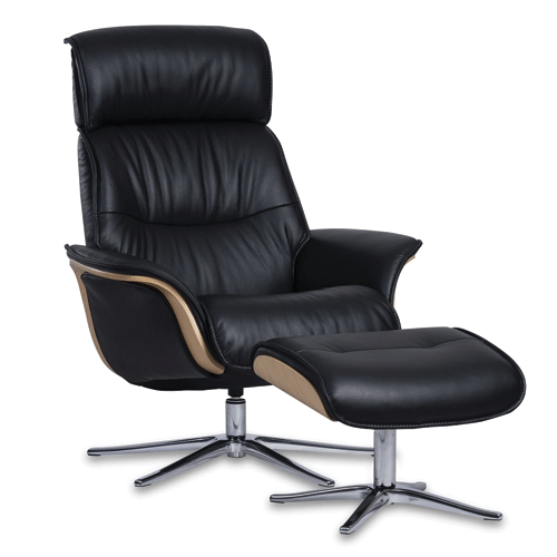 IMG Space 5300 Recliner Chair and Footstool - Trend Leather