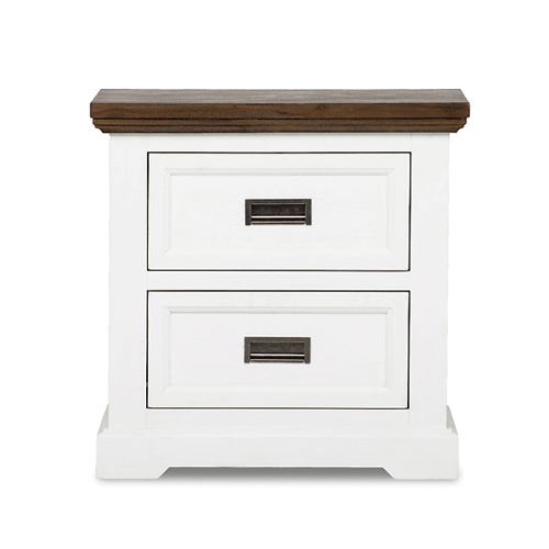 Sumner White Side Table - 2 Drawer