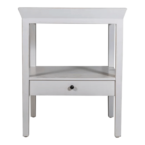 San Diego White Bedside Table