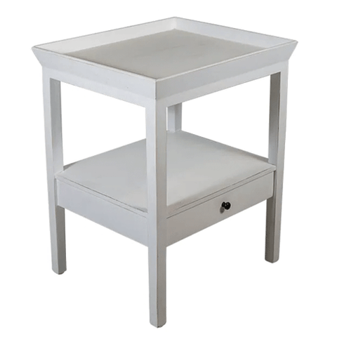 Saltza White Side Table