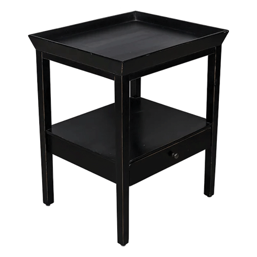 San Diego Black Side Table